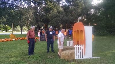 Inspecting the pumpkin house